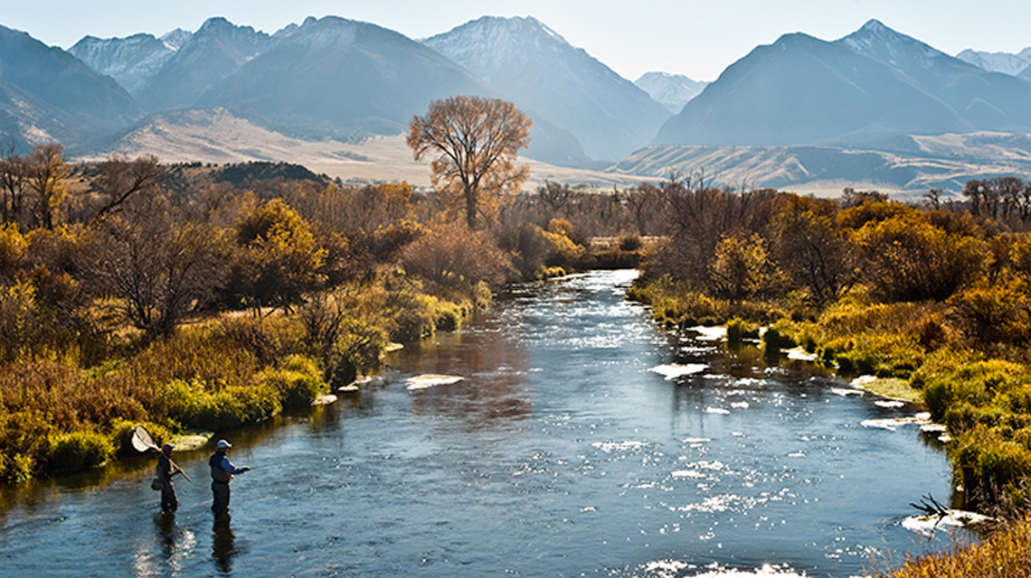 The vermillion ranch yellowstone river frontage vacation for Fly fishing yellowstone river